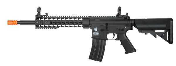 """Lancer Tactical M4 Keymod 10"""" Airsoft Gun Black"""