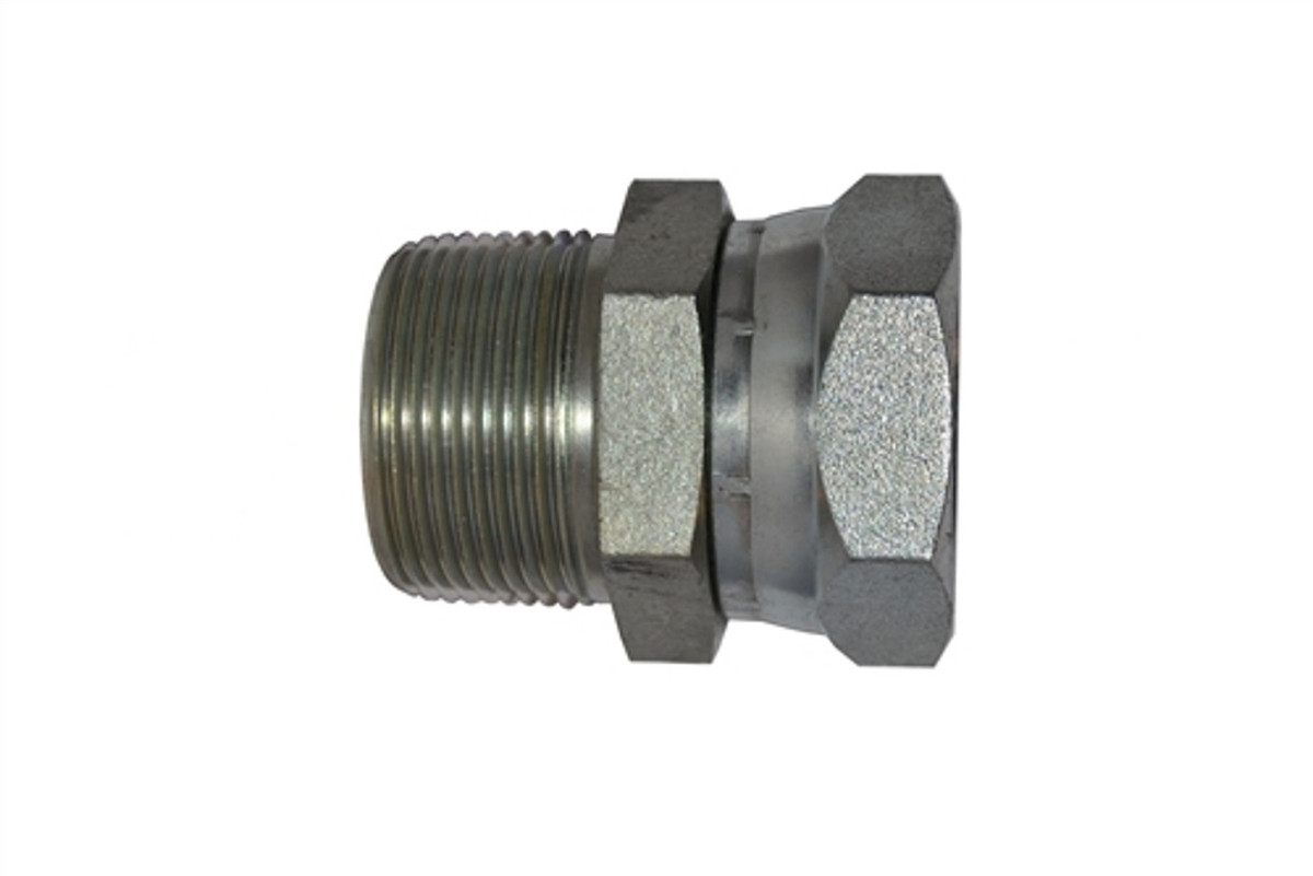 """High Pressure Fitting 3//4/""""M x 1//2/""""F Pipe Connector Swivel  5000 psi"""