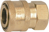 "General Pump D10003 3/8"" Quick Coupler (Q/C) x 3/8"" Female NPT, Brass Plated"