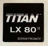 Titan 0286701 LX80II Gun Label Sticker