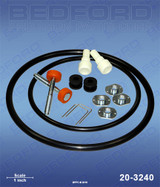 IPM 601002 / Bedford 20-3240 Replacemenmt  Air Motor Repair Kit for 840902 & 840903