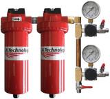 C.A. Technologies 52-523 Extractor  &  Coalescers w/ Two Regulators & 3 Ball Valves