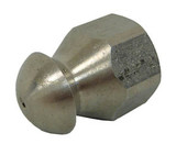 """MTM Hydro 17.0842 Fixed Sewer Jetting Nozzle SS 1/4"""" NPTF 12.0"""