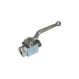 "MTM Hydro 20.0035 Ball Valve Nickel Plated Steel 1/4"" F x F 7250psi"
