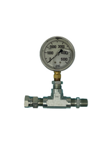 "In-line Pressure Gauge Assembly for Airless Sprayers 3/8"" Fittings Titan 730-420A or 730-420"