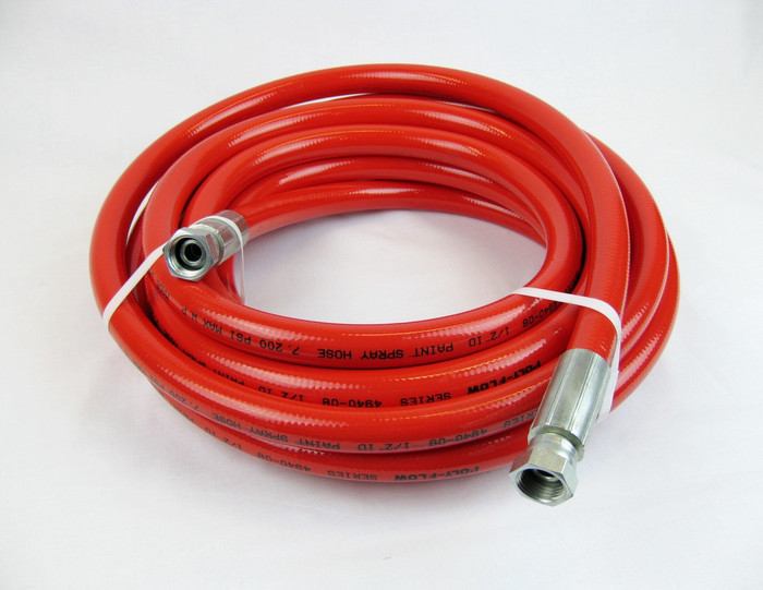 Poly-Flow Series 4940 high pressure airless spray paint hose. 10,000 PSI Maximum.