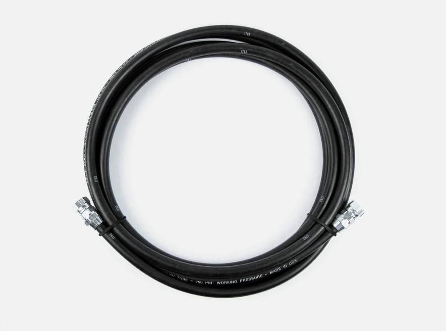 "1/2"" Material Fluid Hose Assembly 750psi Goodyear NR Spray Black"