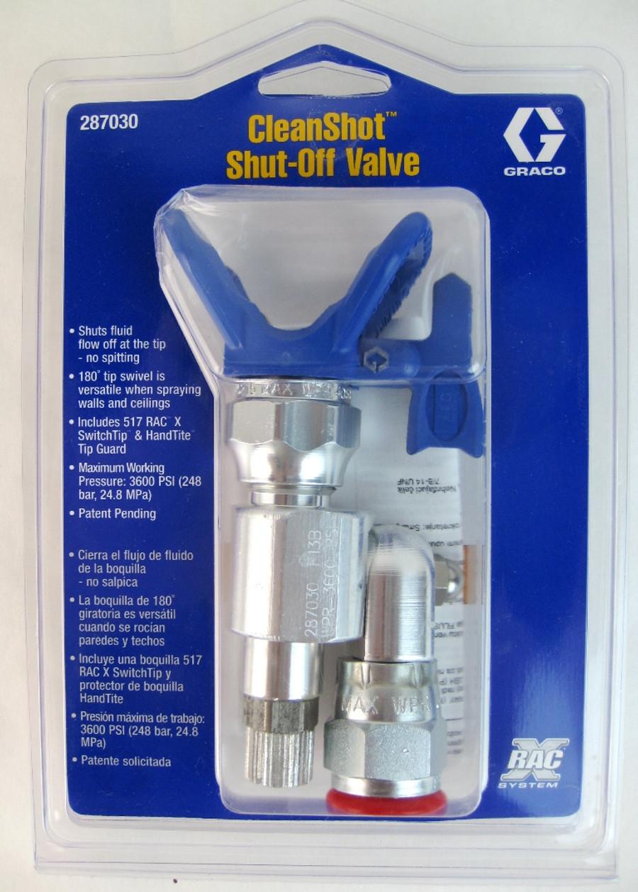 Graco 287030 or 287-030 CleanShot Shut-Off Valve w/517 RAC X Tip & Guard OEM