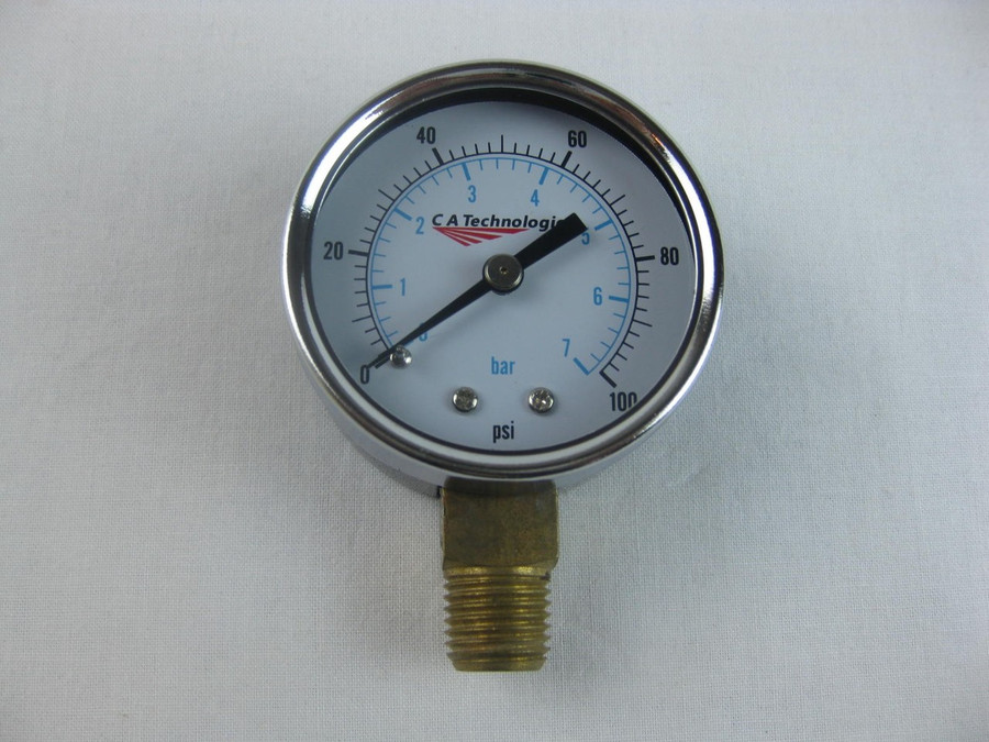 """C.A. TECHNOLOGIES/ C.A.T. 52-58 / 5258 1/4"""" Gage 100 PSI (Bottom Mount)"""
