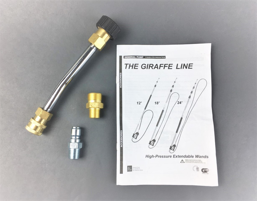 """General Pump DCLTG18 Fiberglass """"Giraffe"""" Telescoping Wand 6'-18' (4000psi) w/ Compensating Spray Gun (FREE SHIPPING)"""