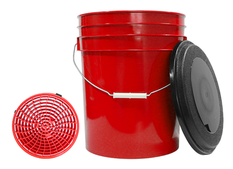 MTM Red 5 Gallon Bucket, Lid, and Dirt Lock Grid #44.0010