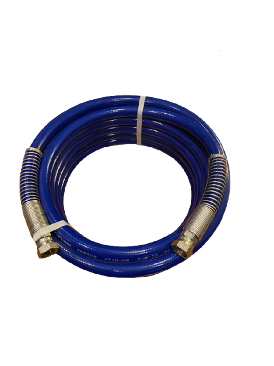 "Prosource Airless Paint Spray Hose 3300 PSI  3/8"" x 25' Blue"