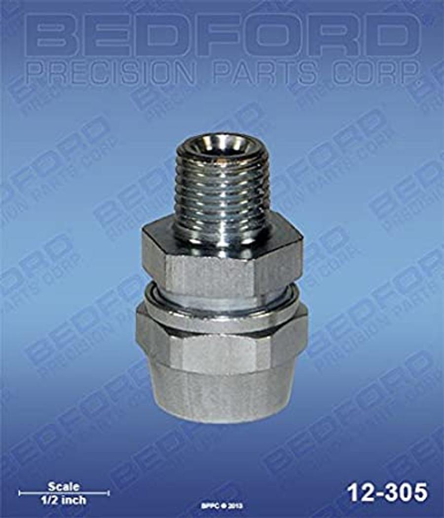 "Binks 72-1478 or Devilbiss PHC4599 5/16"" Hose Fitting x 1/4"" NPT (M) Bedford 12-305"