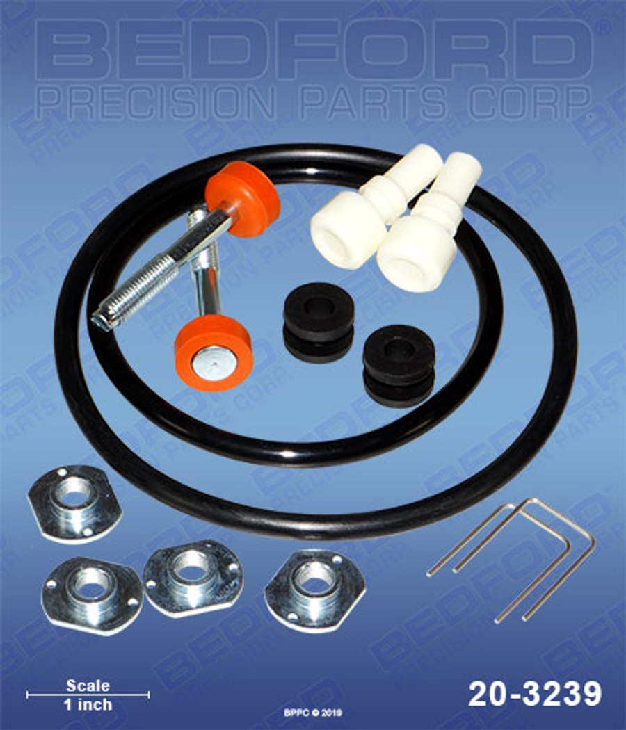 Bedford 20-3239 Replacement IPM 601001 Air Motor Repair Kit for 830802 & 830803