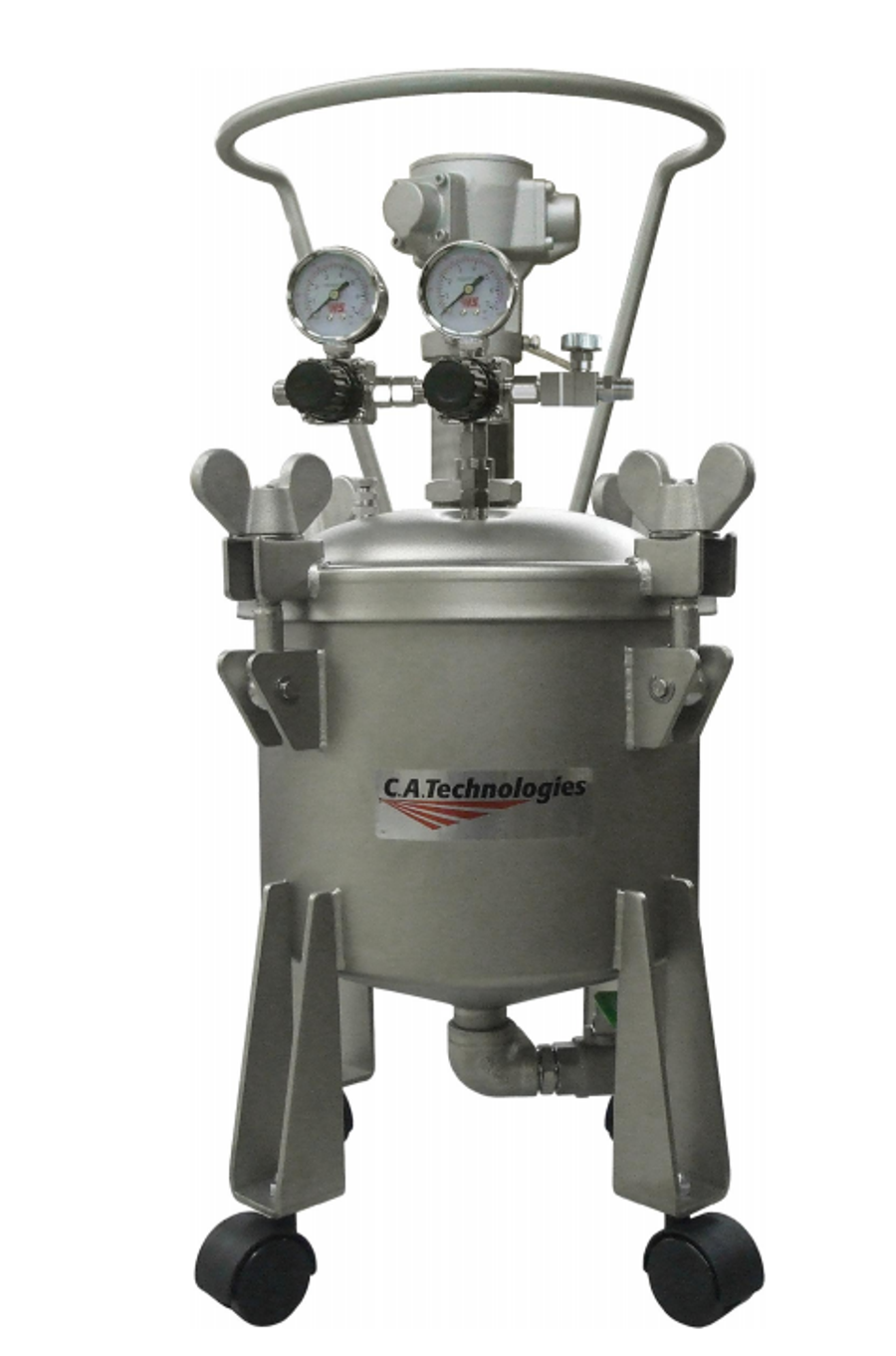 C.A. Technologies 51-914 Stainless Steel Air Agitated Bottom Outlet Pressure Tank 2.5Gal