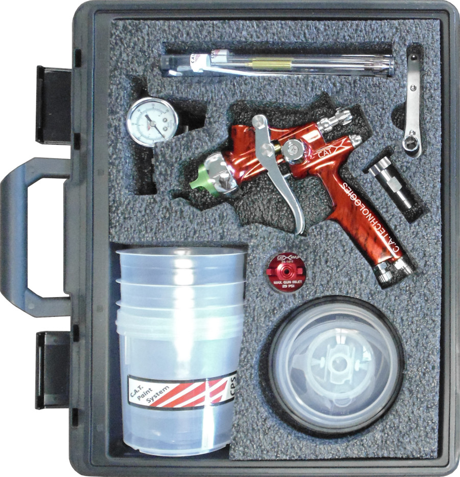 C.A. Technologies EP-CAT-X-M-W-PPS Gravity CAT X Red Marble Wood Pack Spray Gun