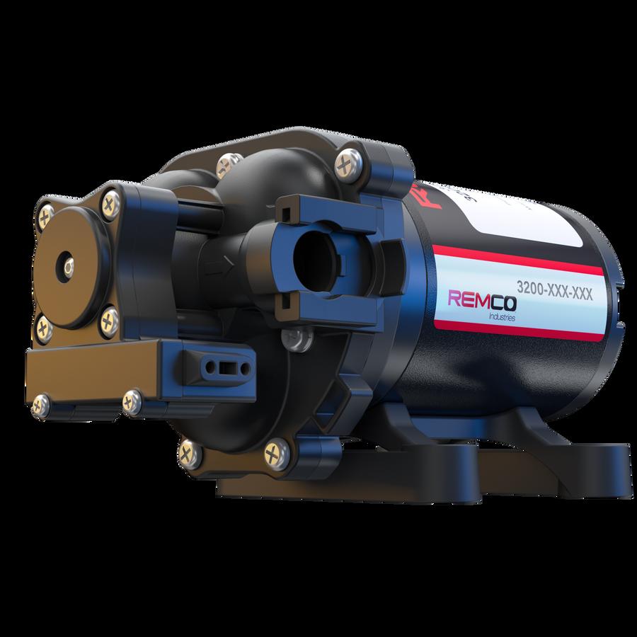 "Remco 3200 Series AG RV Water Pump 3.5GPM, 3/4""QA, Bypass, 60psi 3214-2E1-82B"
