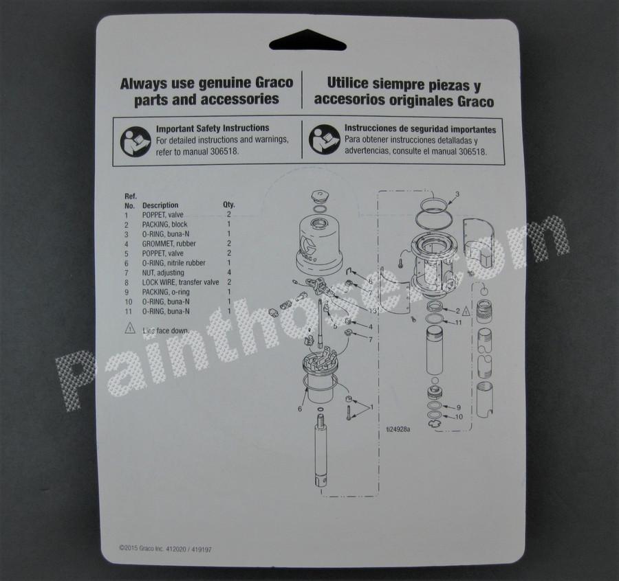 Graco 238286 or 238-286 Repair Kit OEM