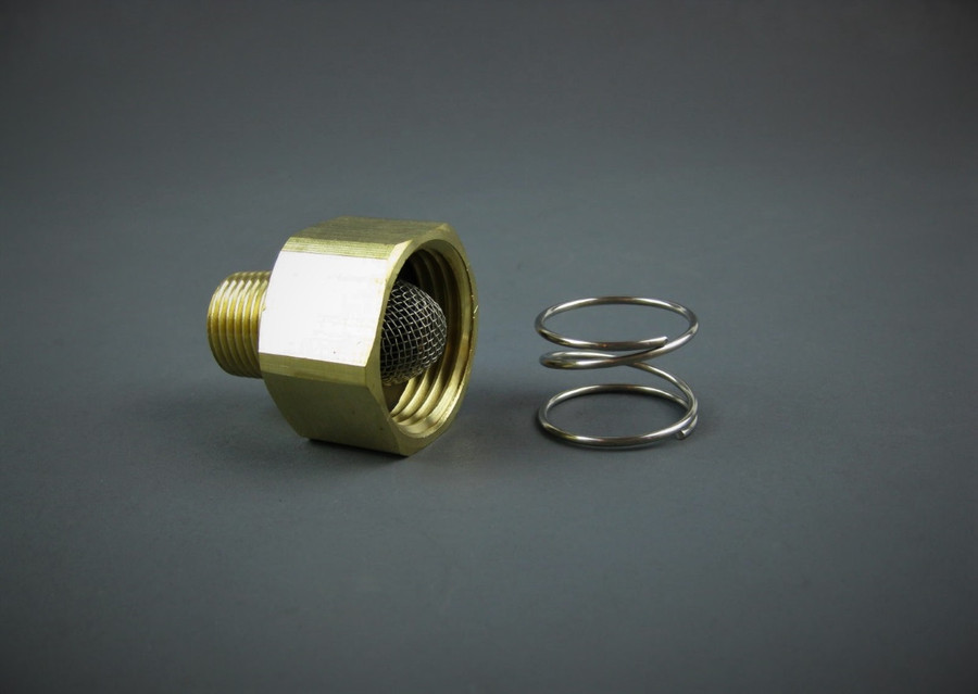 MTM Hydro 24.0054 GH Adaptor 3/4 FGH -3/8 MPT With Spring & Filter Washer