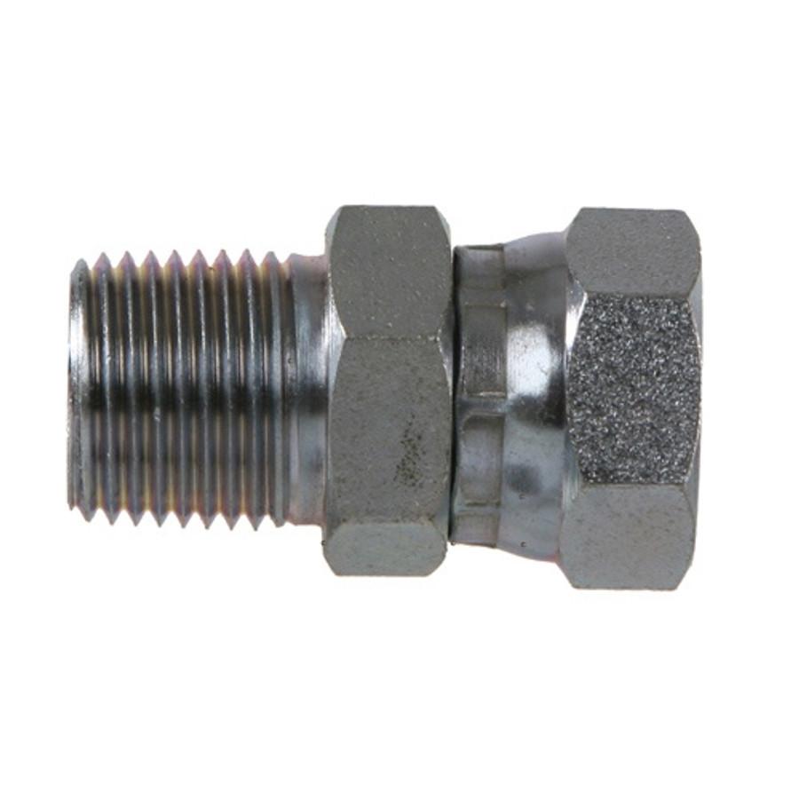 1404 -NPTF Pipe Male x NPSM Pipe Female Swivel Steel Adapter