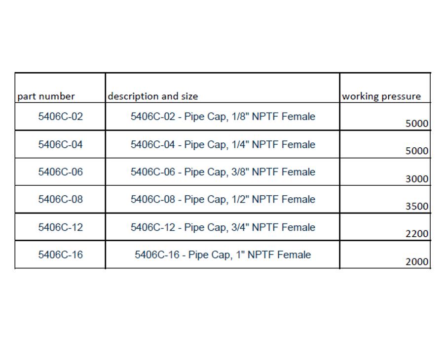 5406C - NPTF Pipe Cap