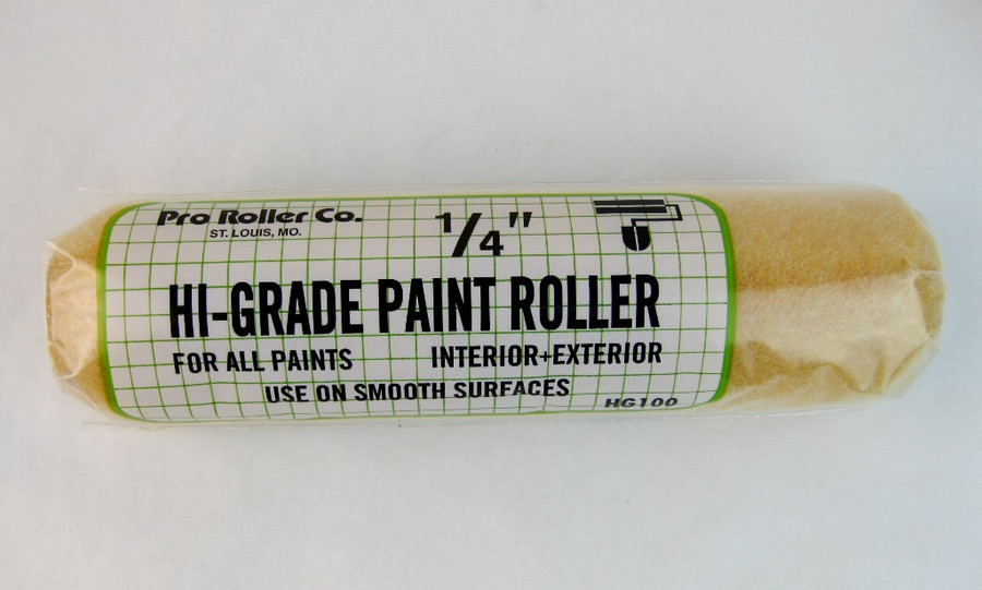 "Pro Roller Paint Roller Cover 1/4"" x 9"" Hi Grade Polyester"