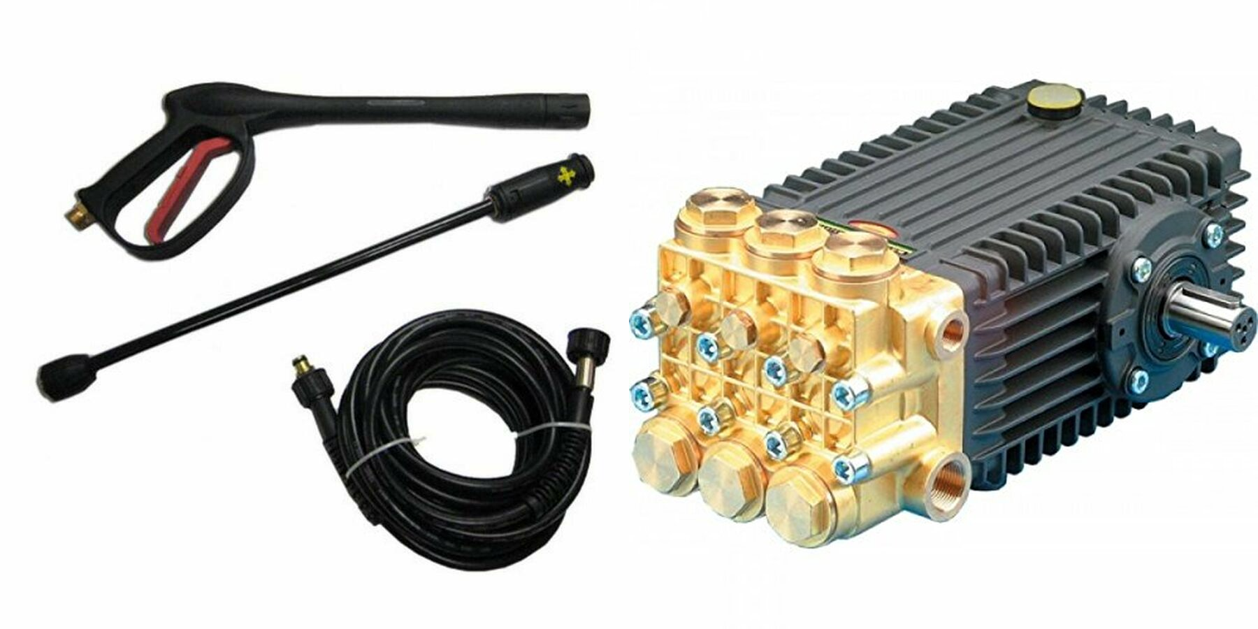 Pressure washing equipment, car care products, and sewer jetting equipment.
