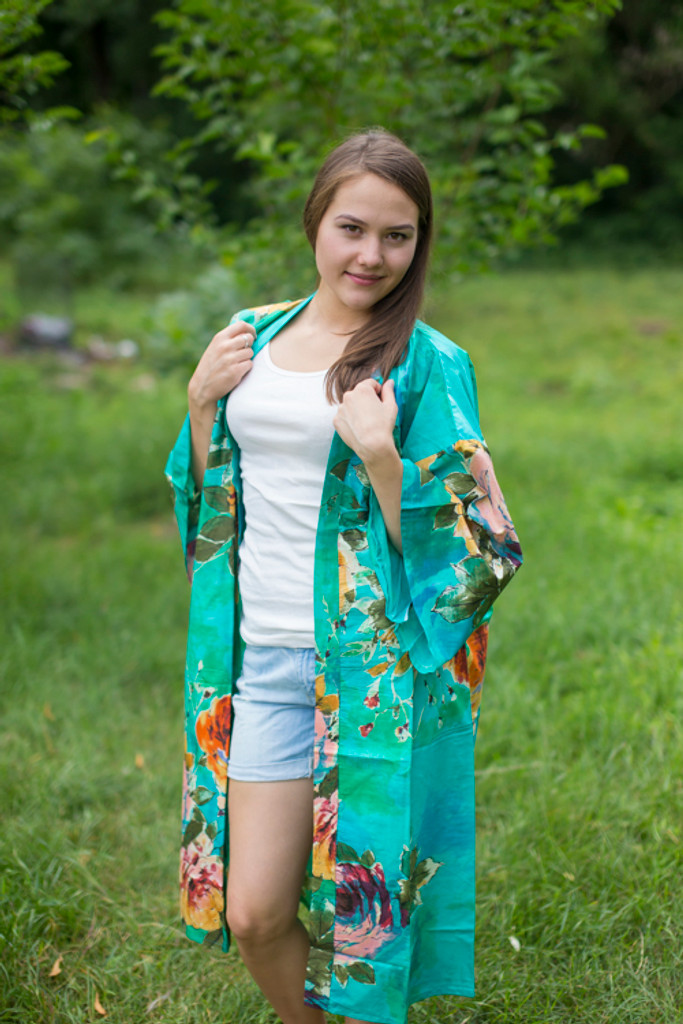 """""""Free Bird"""" Kimono jacket in Large Floral Blossom pattern"""