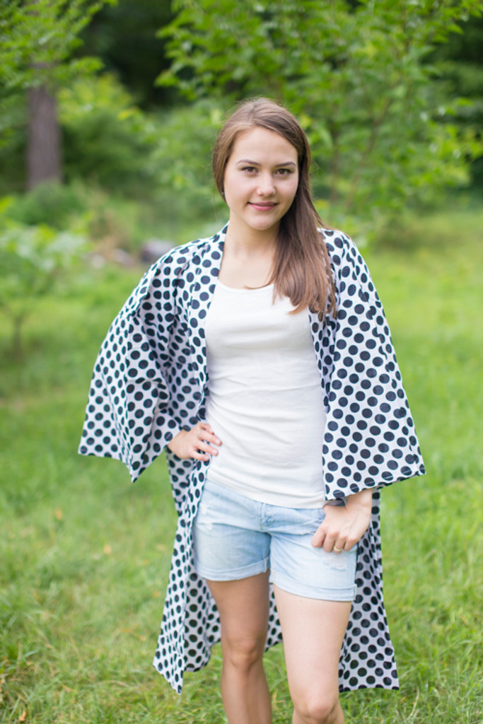 """Free Bird"" Kimono jacket in Polka Dots pattern"