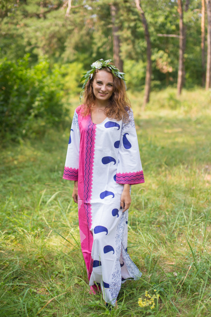 """The Unwind"" kaftan in Perfectly Paisley pattern"