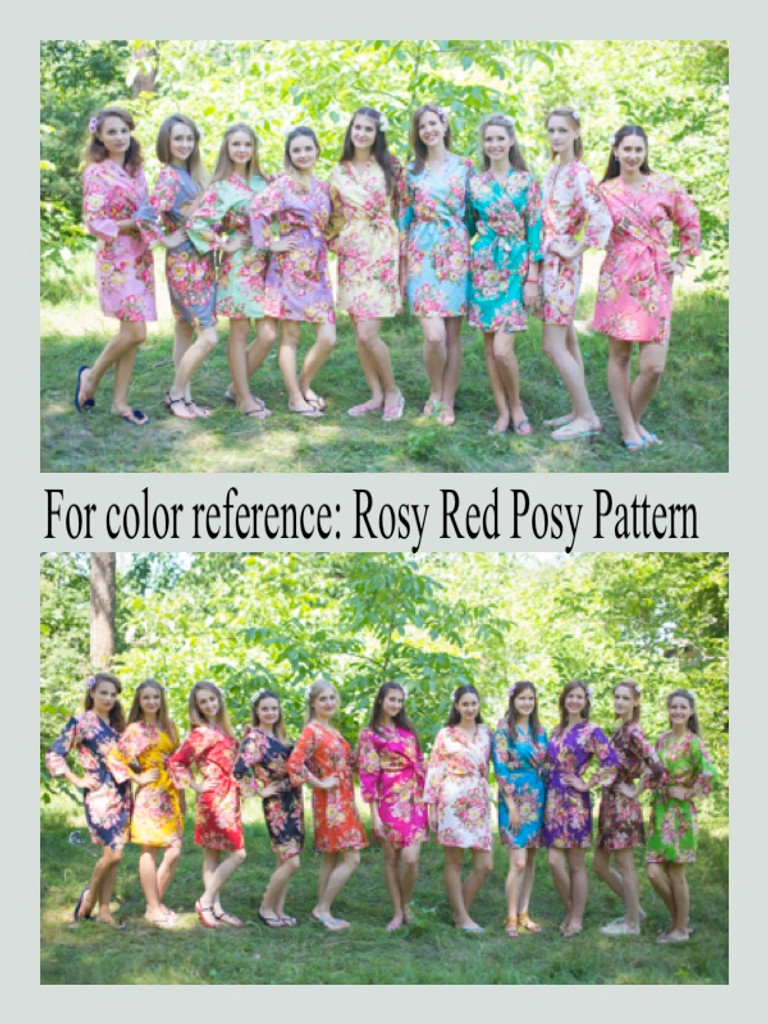 """The Unwind"" kaftan in Rosy Red Posy pattern"