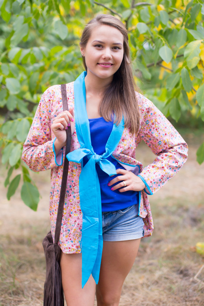"""""""Bow and Me"""" Kimono jacket in Petit Florals pattern"""