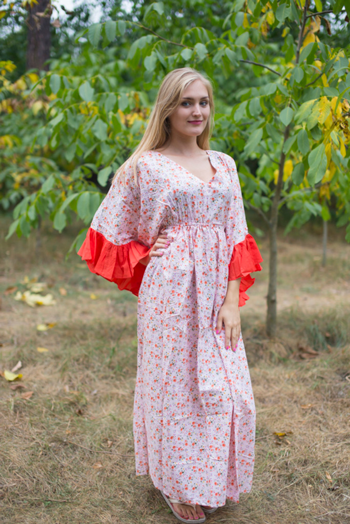 """Pretty Princess"" kaftan in Starry Florals pattern"
