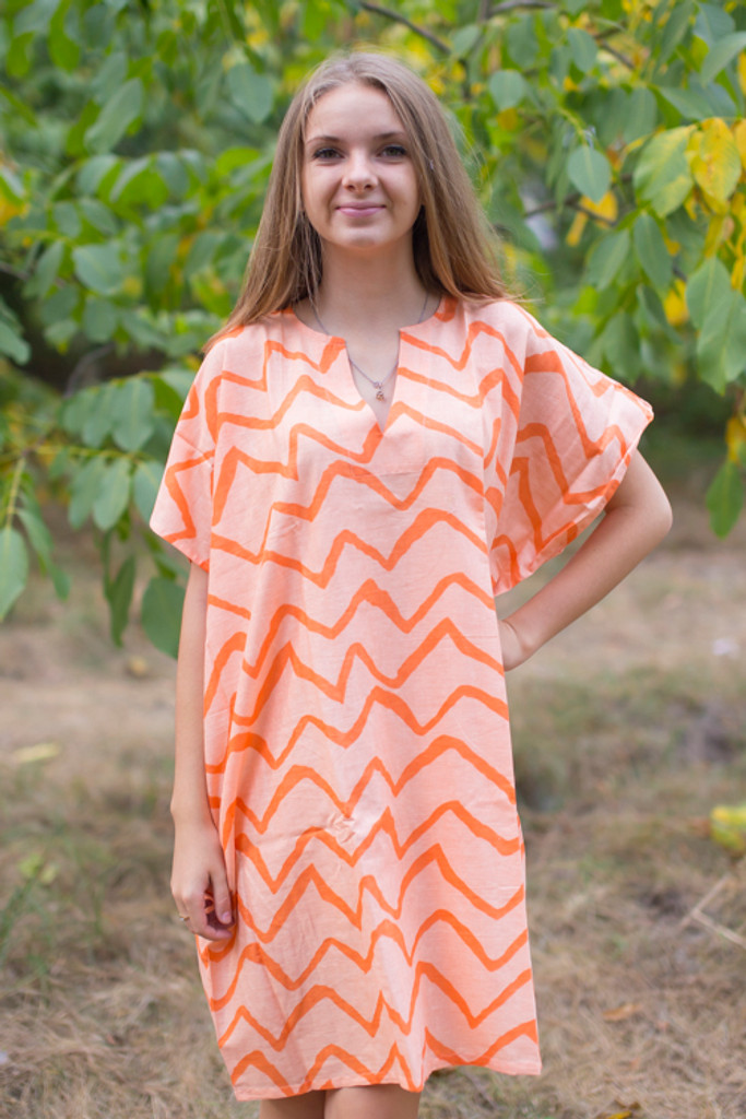 """Sunshine"" Tunic Dress kaftan in Chevron pattern"