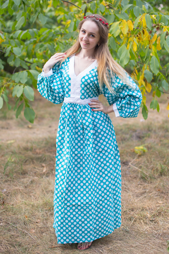 """My Peasant Dress"" kaftan in Polka Dots pattern"