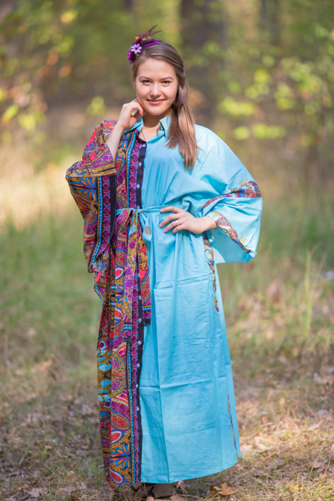 """Oriental Delight"" kaftan in Cheerful Paisleys pattern"