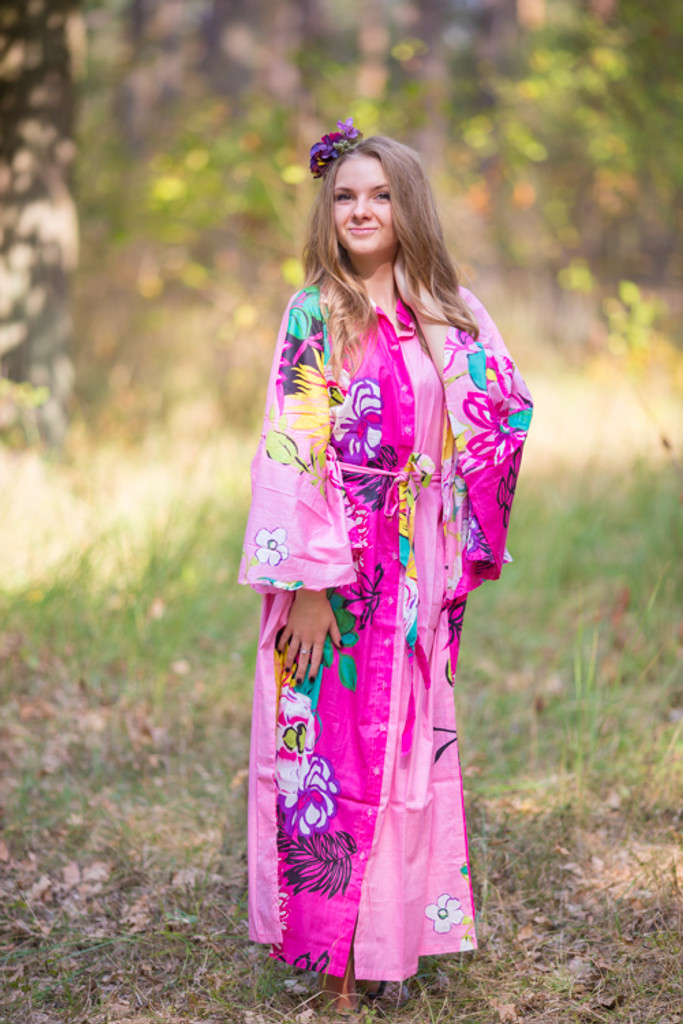 """Oriental Delight"" kaftan in Jungle of Flowers pattern"