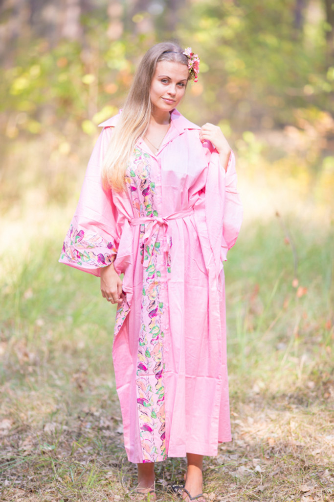 """Oriental Delight"" kaftan in Little Chirpies pattern"