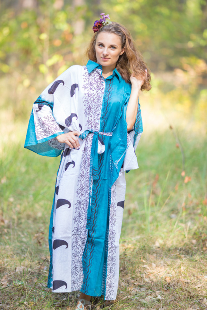 """Oriental Delight"" kaftan in Perfectly Paisley pattern"