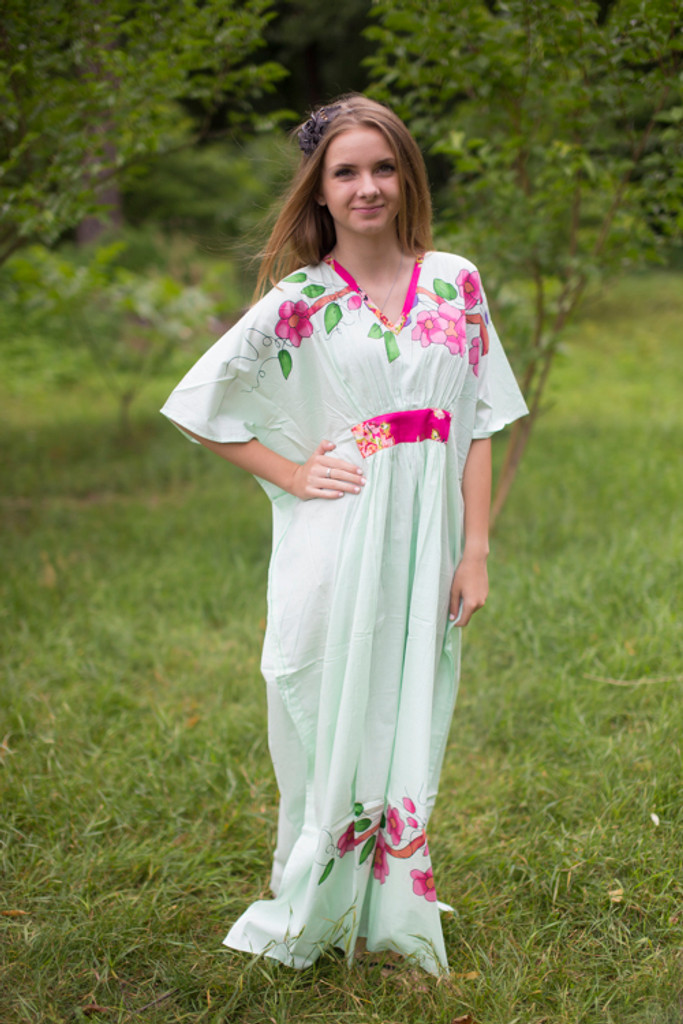 """Unfurl"" kaftan in Swirly Floral Vine pattern"