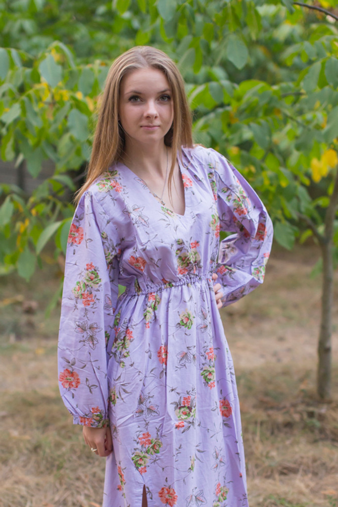 """Shape Me Pretty"" kaftan in Romantic Florals pattern"