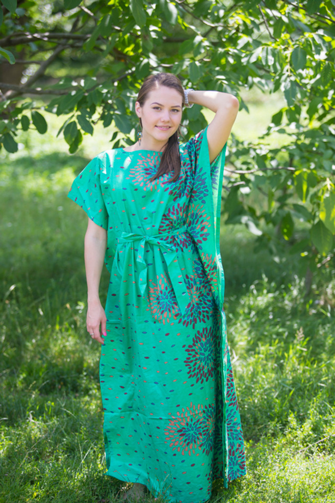 """""""Divinely Simple"""" kaftan in Abstract Floral pattern"""