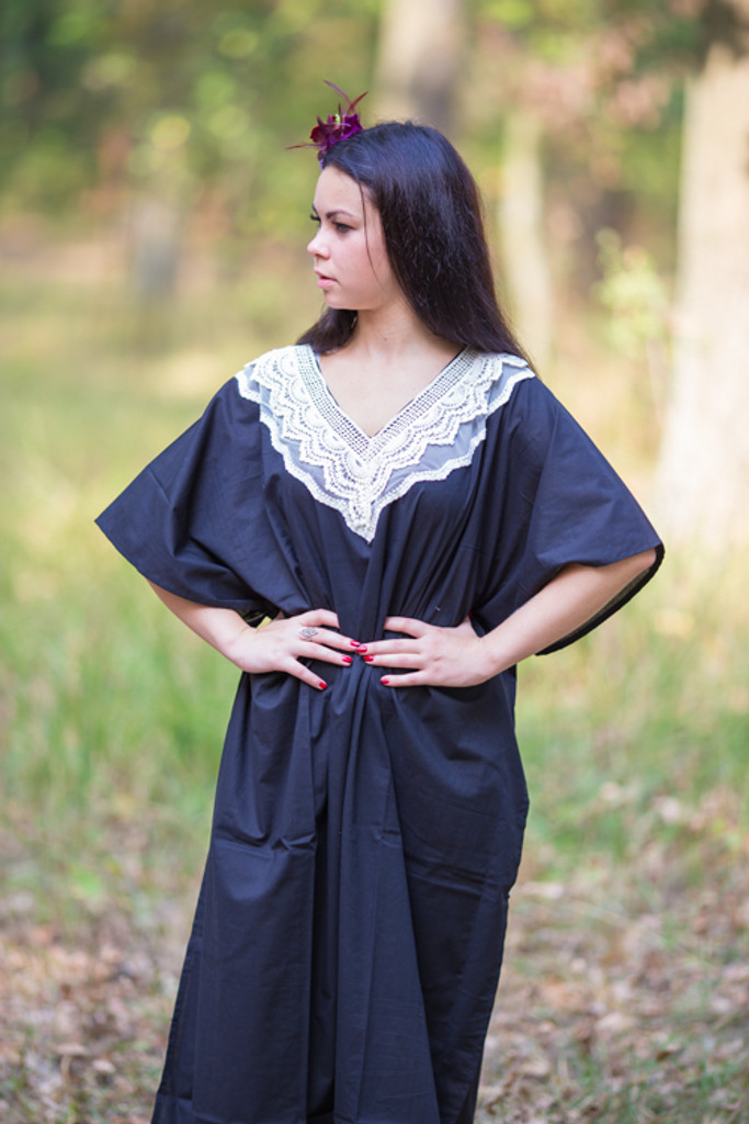 """Luscious Lace"" kaftan in Black"