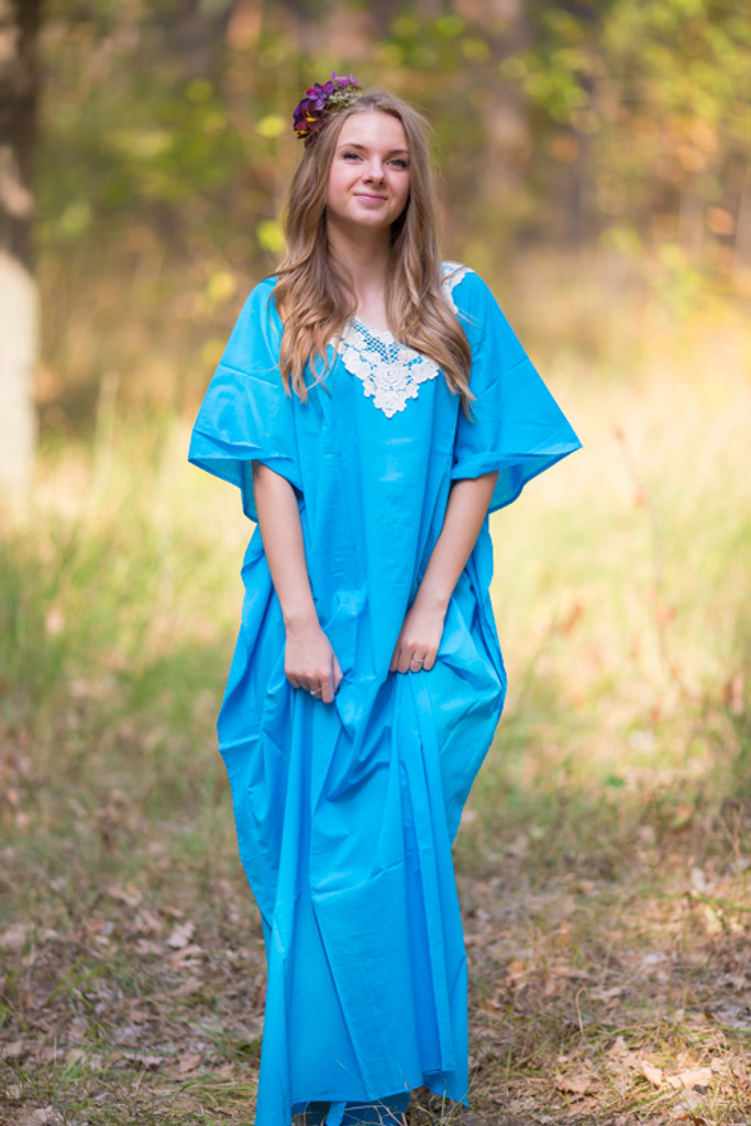 """Luscious Lace"" kaftan in Blue"