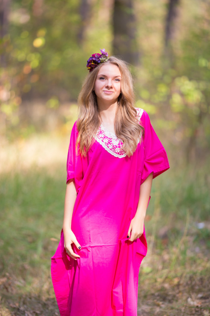 """Luscious Lace"" kaftan in Magenta"
