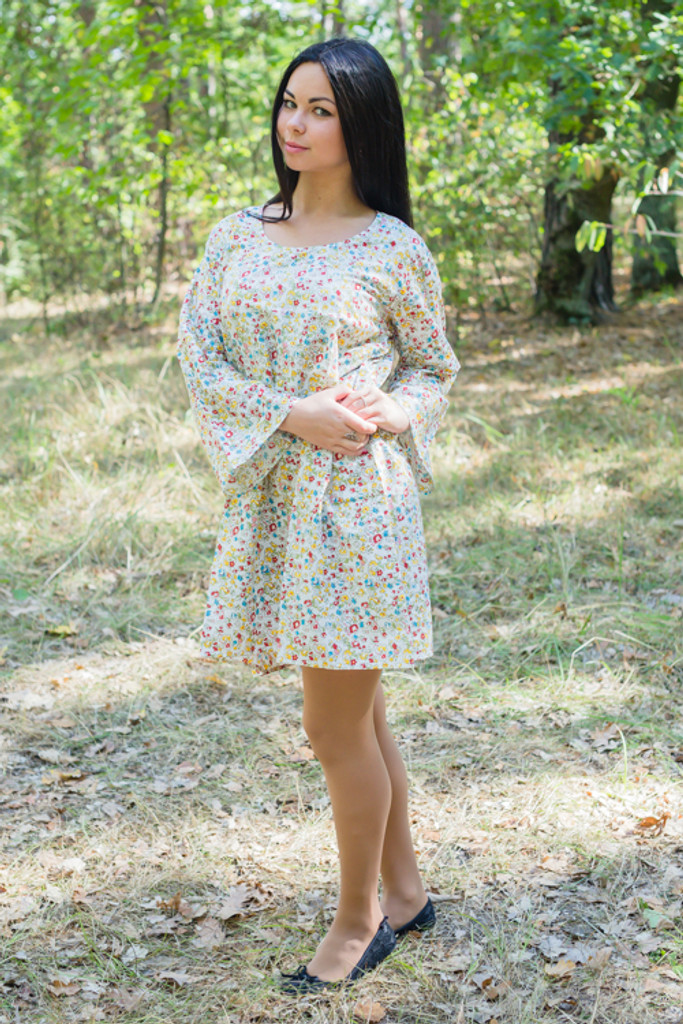 """Bella Tunic"" kaftan dress in Petit Florals pattern"