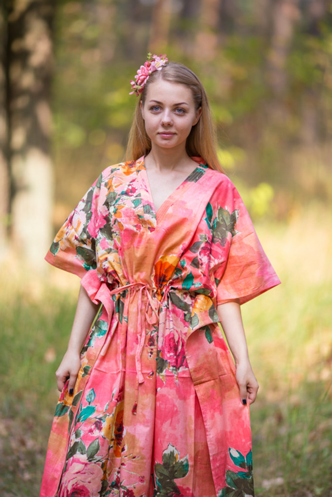 """""""The Drop-Waist"""" kaftan in Large Floral Blossom pattern"""