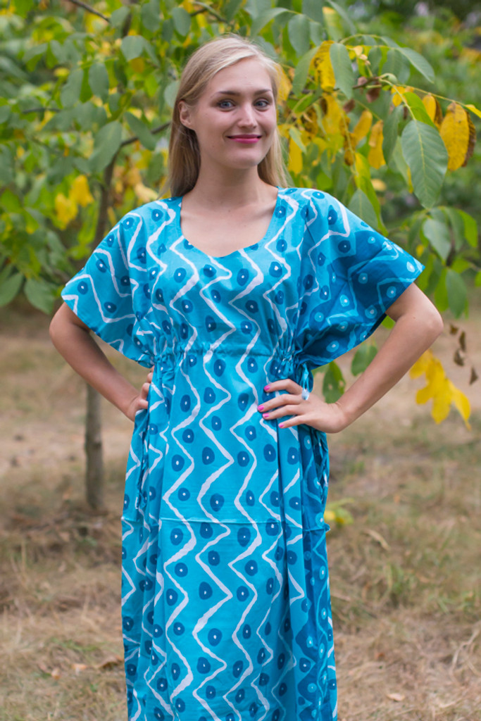 """Side Strings Sweet"" kaftan in Chevron Dots pattern"