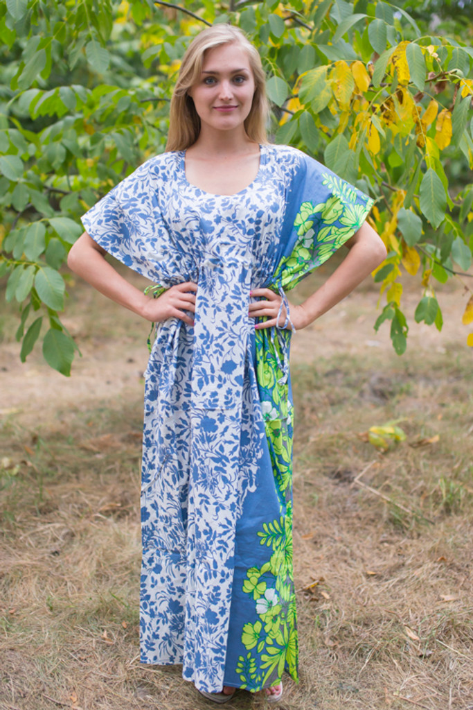 """Side Strings Sweet"" kaftan in Falling Leaves pattern"