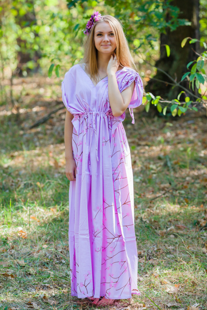 """""""Magic Sleeves"""" kaftan in Cherry Blossoms pattern"""